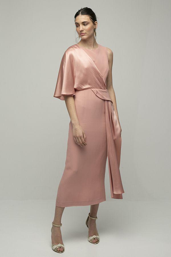 Inunez vestido cutout cintura rosa midi 1
