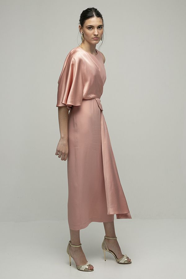 Inunez vestido cutout cintura rosa midi 2