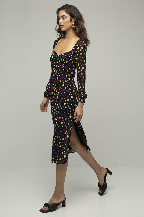 Reformation mabille vestido lunares colores 1