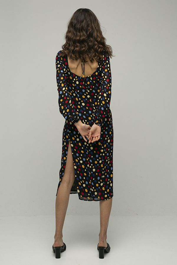 Reformation mabille vestido lunares colores 3