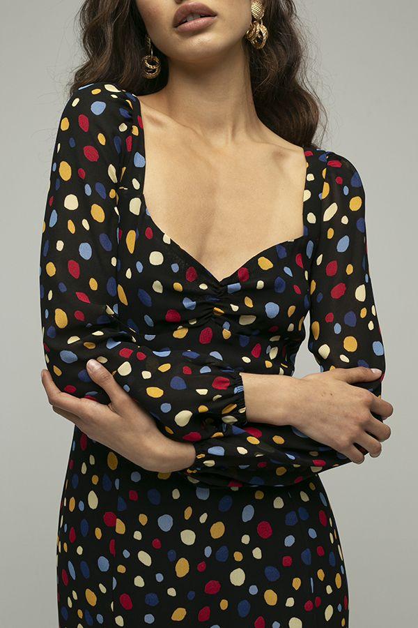 Reformation mabille vestido lunares colores 4