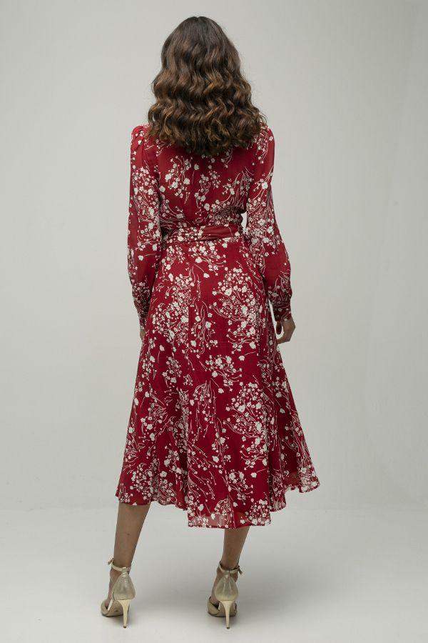 Reformation susanna vestido cruzado rojo estampado 3