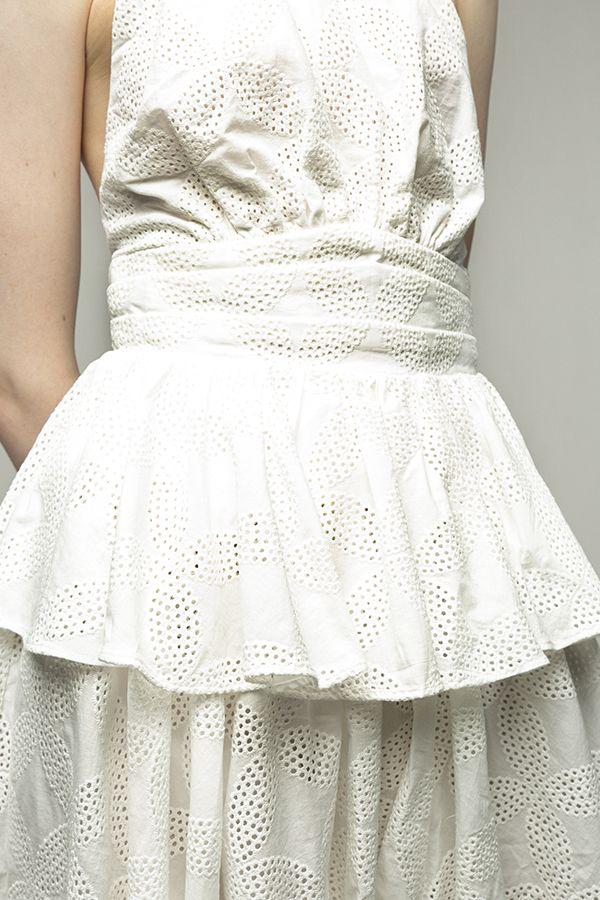 Acler-Klara vestido corto blanco crochet-3