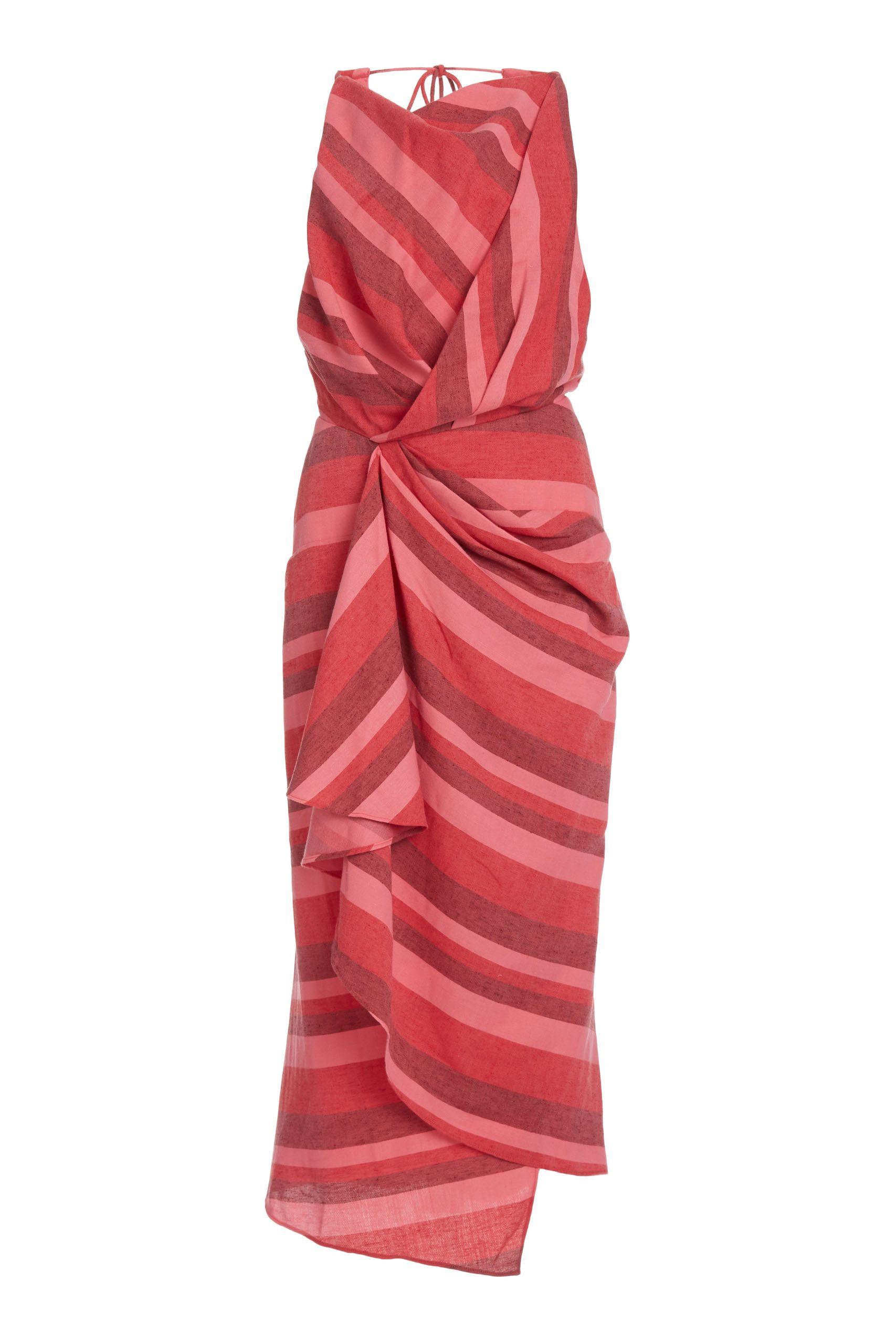 acler-faver-vestido-midi-rojo-fruncido